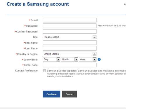 Cara Membuat Akun Samsung Ccm